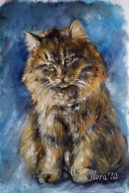 портрет кота на заказ портрет маслом
