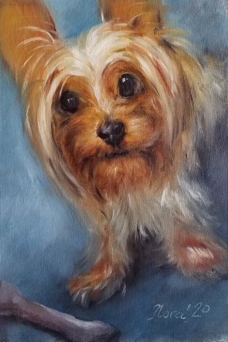 портрет собаки на заказ