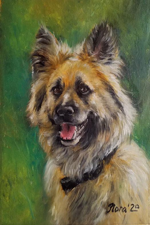 портрет собаки на заказ портрет маслом